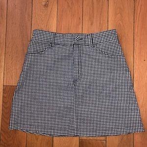 Brandy Melville checkered skirt